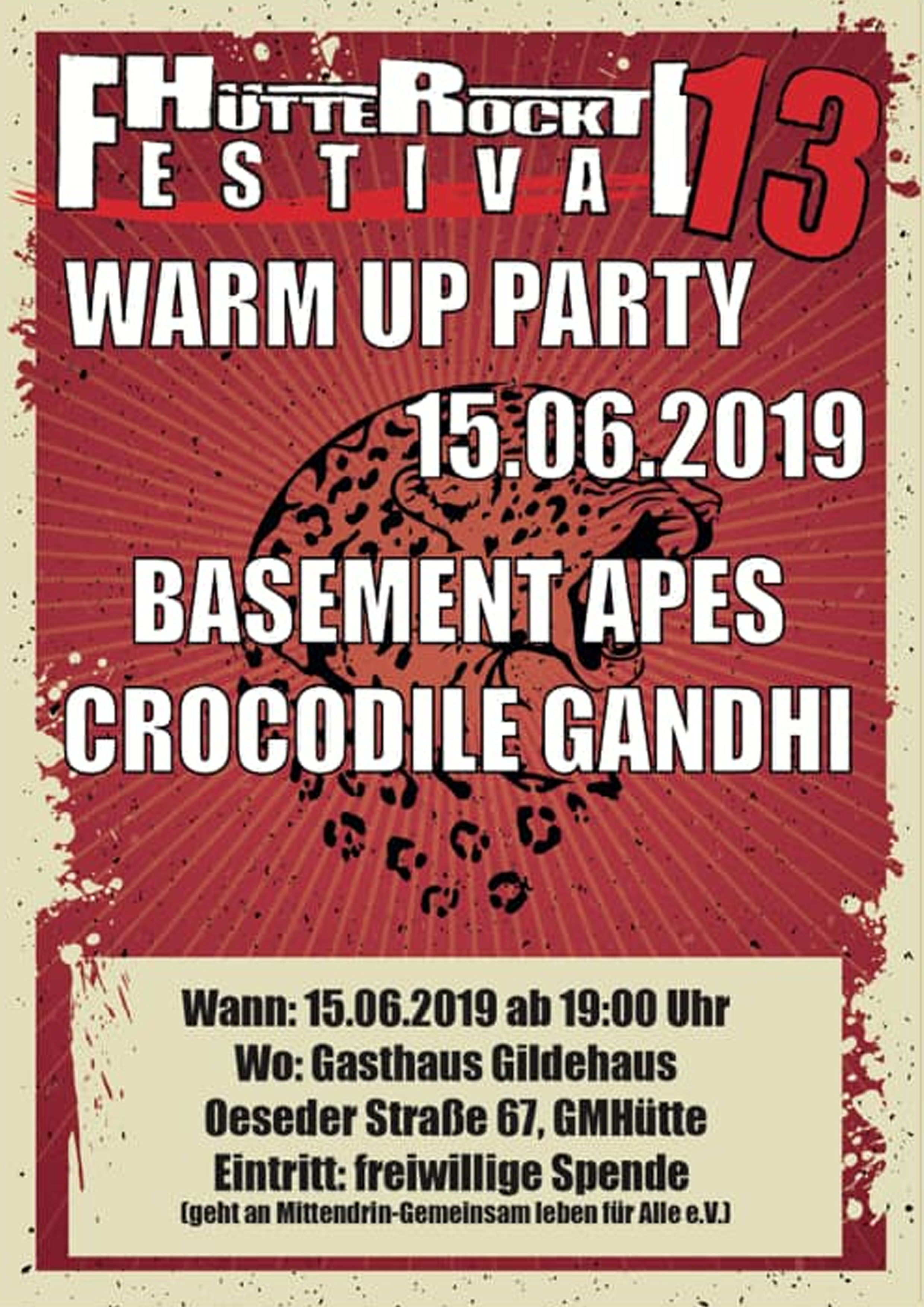 Warm Up Party am 15.06.2019